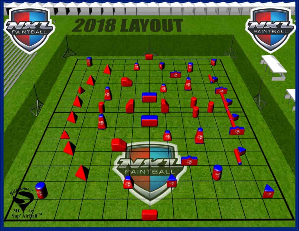 Example field layout image the NXL and other tournaments provide - How To Get Better At Speedball Tournament Games?