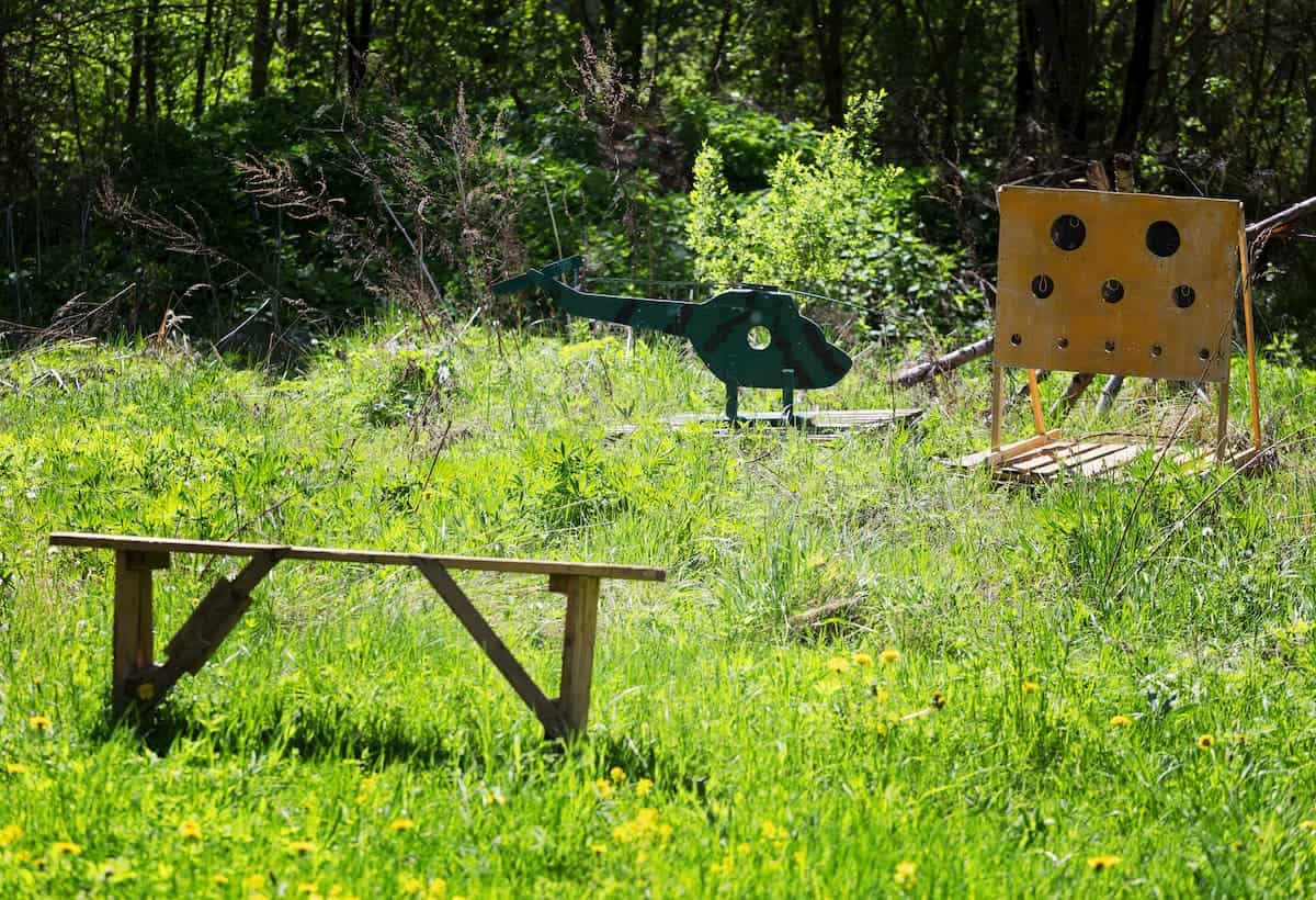 Target practice with plywood cutouts with paintballs - How Can You Practice Paintball at Home