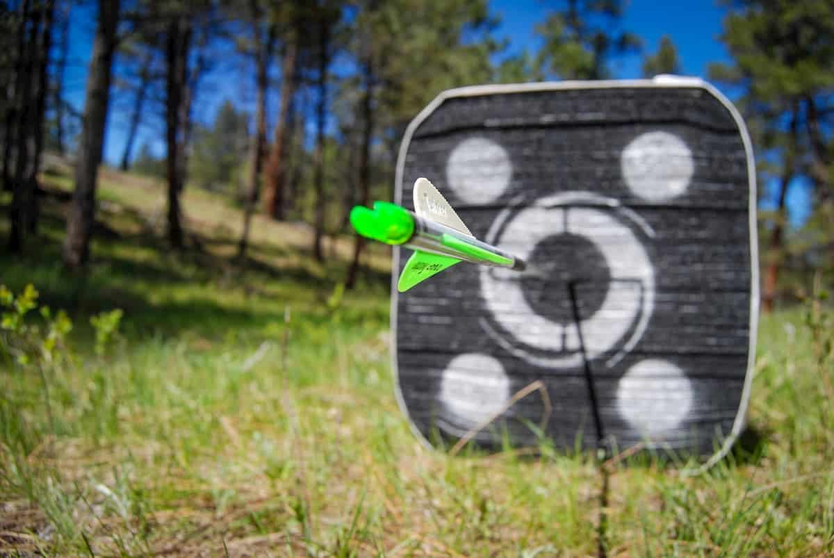 Arrow In Target in outdoor area - Where Can I Do Archery