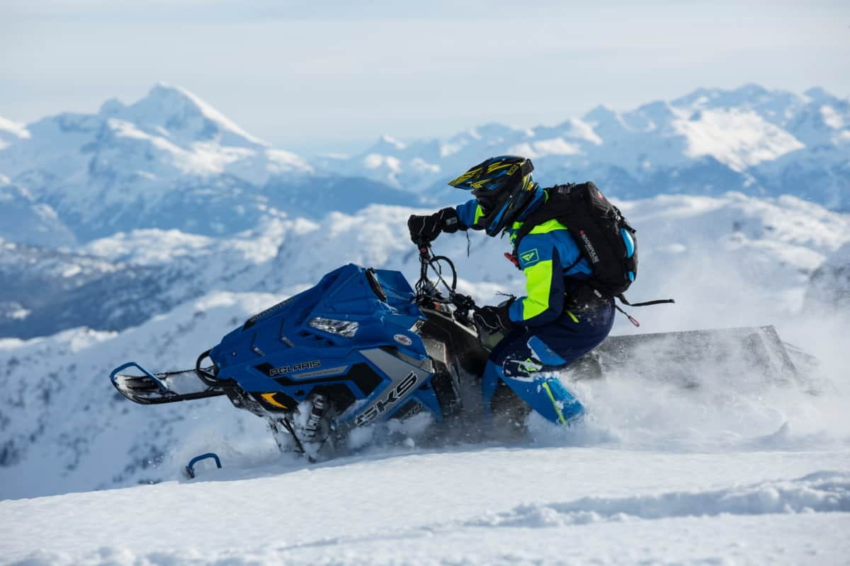 Riding On Snowmobile1