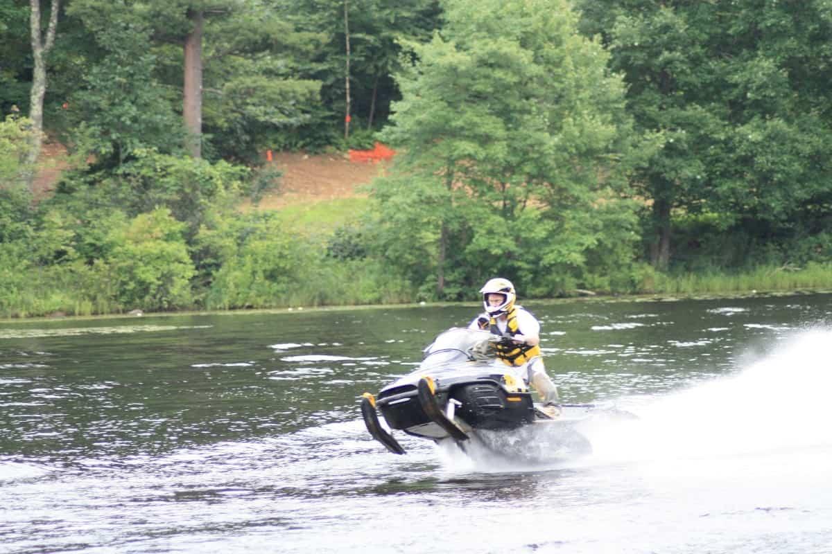Snowmobile Water Skip