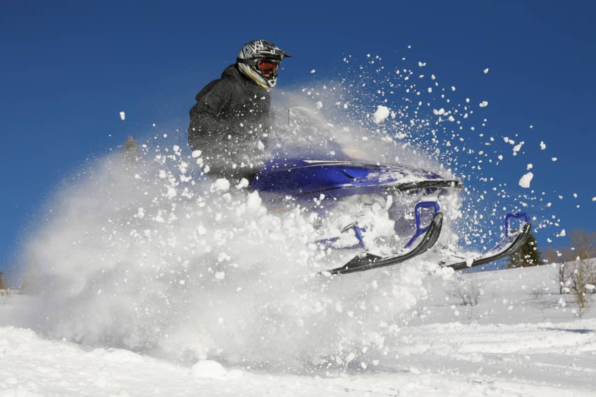 extreme action snowmobile